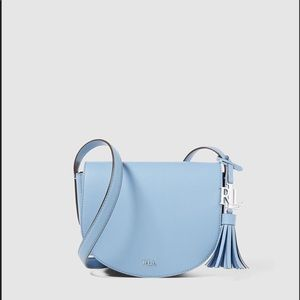 Ralph Lauren Pale Blue Leather Crossbody Bag